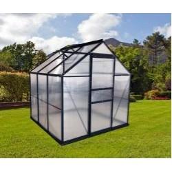 outiror Serre jardin polycarbonate 5 6 m2 anthracite 176009190110