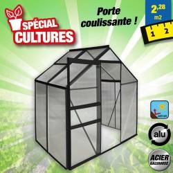 outiror Serre jardin polycarbonate 2.3 m2 anthracite 176009190107-2