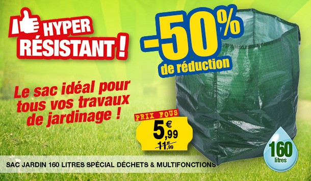 sac 160 litres