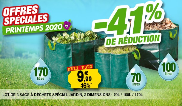 lot 3 sacs jardin